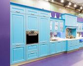 Beautiful custom kitchen interior design — Stock Photo