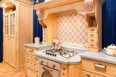 Custom kitchen interior design — Stock Photo