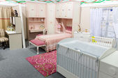 Baby's bedroom in pastel colors — Stock Photo