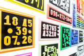 Collection of colorful numbers — Foto de Stock