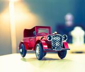 Great red oldtimer vintage car — Stock Photo