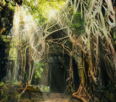 Temple in Angkor Thom — Stock Photo