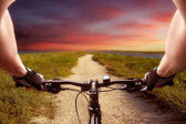 Fast bicycle ride — Foto Stock