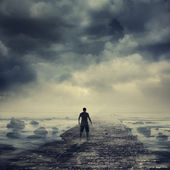 Walking to the light — Stock Photo