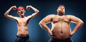 Funny body builders — Stock Photo