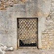 Old door in a stone wall — Stock Photo #50796573