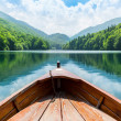 Wooden boat on lake — Stock Photo #50795665