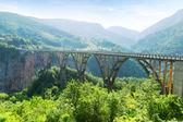 Most i rzeki — Zdjęcie stockowe