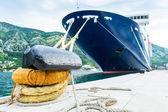 Nave da crociera nel porto — Foto Stock