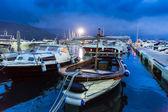 Yachts in harbor — Stock Photo