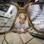 Scientist at vintage laboratory — Stock Photo #6072525