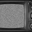 Vintage TV with noise on screen — Stock Photo #6840122