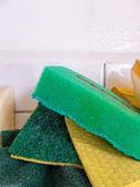 Esponjas de cocina verde — Foto de Stock