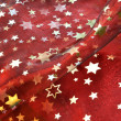 Stock Photo: Red cloth with golden stars