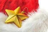 Gouden ster in bont — Stockfoto