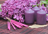 Lilac perfume — Stock Photo