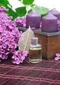 Lilac parfume — Stock Photo