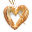 Bread shaped heart — Stock Photo #27381015