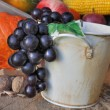 Grapes in a bucket — Stock Photo