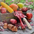 Fruits and vegetables with tools — Stockfoto