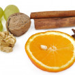 Fruits and spices for celebration — Stock Photo