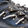 Stock Photo: Old ski shoes