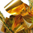 Glossy golden ribbon — Stock Photo