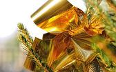 Glossy golden ribbon — Stockfoto