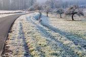 Wsi w zimie — Zdjęcie stockowe