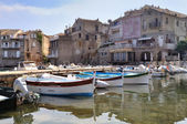 Typically small port Corsica — Stock Photo