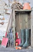 Equipment and gardening tools — Stock Photo