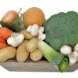 Seasonal vegetables and mushrooms — Stock Photo