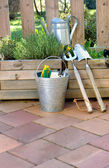 Gardening tools and accessories — Stock Photo