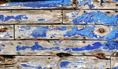 Peeling blue paint — Stock Photo