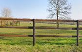Houten hek — Stockfoto