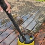 Washing wooden terrace — Stock Photo #47454671