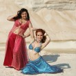 Bellydance in outdoors — Stock Photo