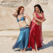 Two bellydance girls — Stock Photo
