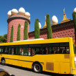 Salvador Dali museum and bus - Stock Photo