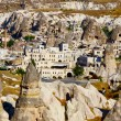 Goreme town in Cappadocia, Turkey — Stock Photo