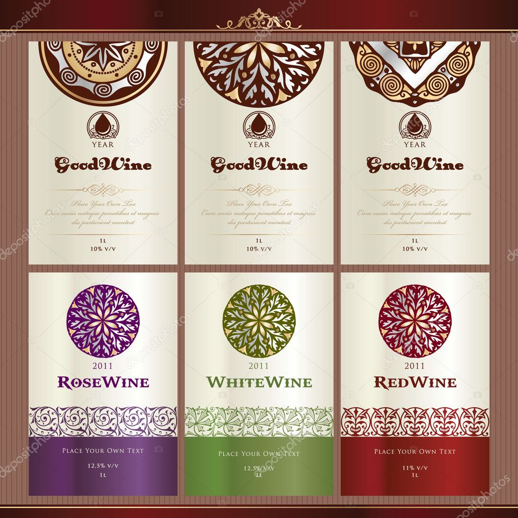 Wine Bottle Template Collection of wine label