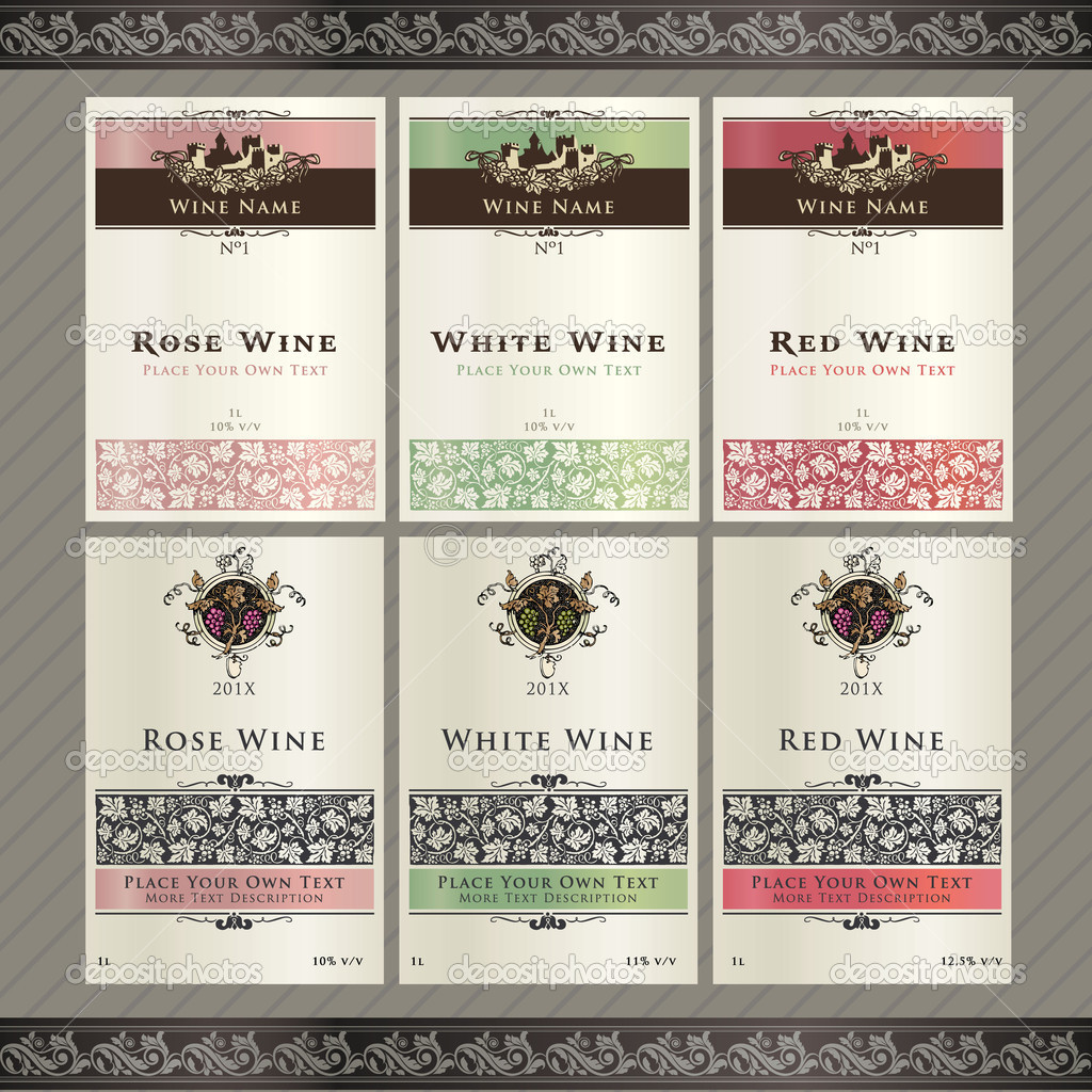 Wine Tag Templates