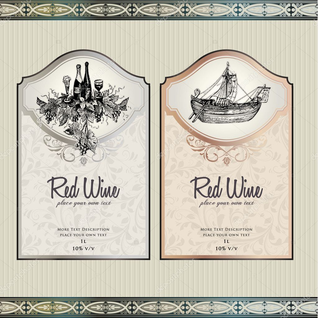 Unusual Free Wine Label Templates Gallery Resume Ideas Depositphotos  6686515 Set Of Wine Labels Free Wine  Free Wine Label Template