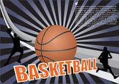 Fondo de baloncesto — Vector de stock