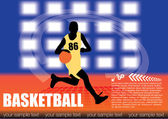 Basketball vector — Stock Vector