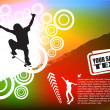 Royalty-Free Stock Imagem Vetorial: Abstract skateboard