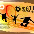 Royalty-Free Stock Immagine Vettoriale: Abstract skateboard