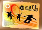 Abstract skateboard — Stock Vector