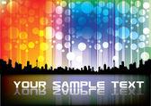 Colorful city design — Stock Vector