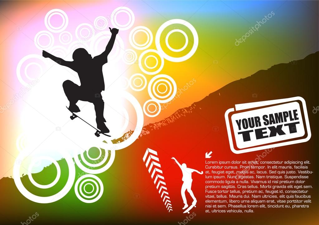 Abstract skateboard background — Stock Vector #13520535